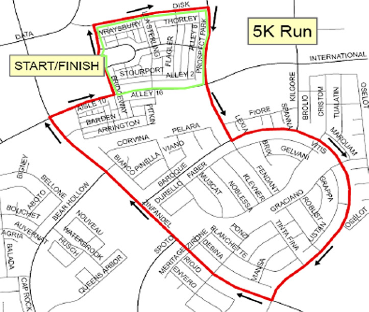race map - Rancho Cordova holiday run