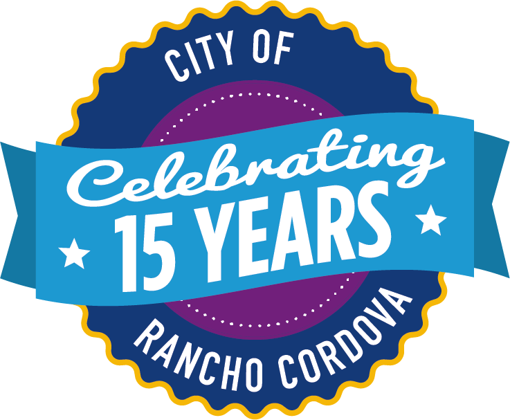 15 year city Rancho Cordova logo